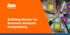 Slide cover for Building Blocks for Business Analysis Competency presentation