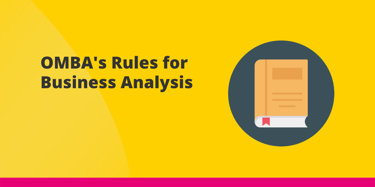 OMBA's Rules for Business Analysis Cover