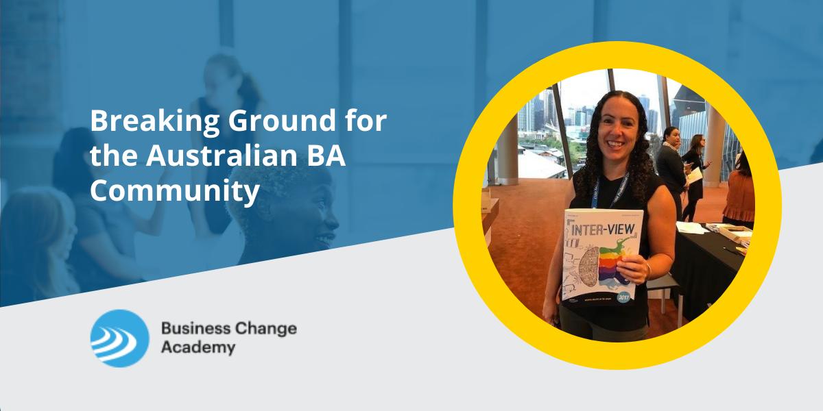 Breaking Ground for the Australian BA Community Cover