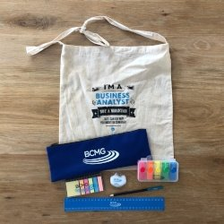 Our sought-after exclusive goody bag full of business analyst tools
